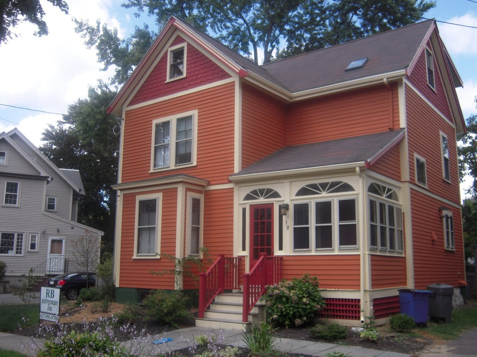 Rb painting company llc somerville cambridge exterior painting company for Exterior house painting companies
